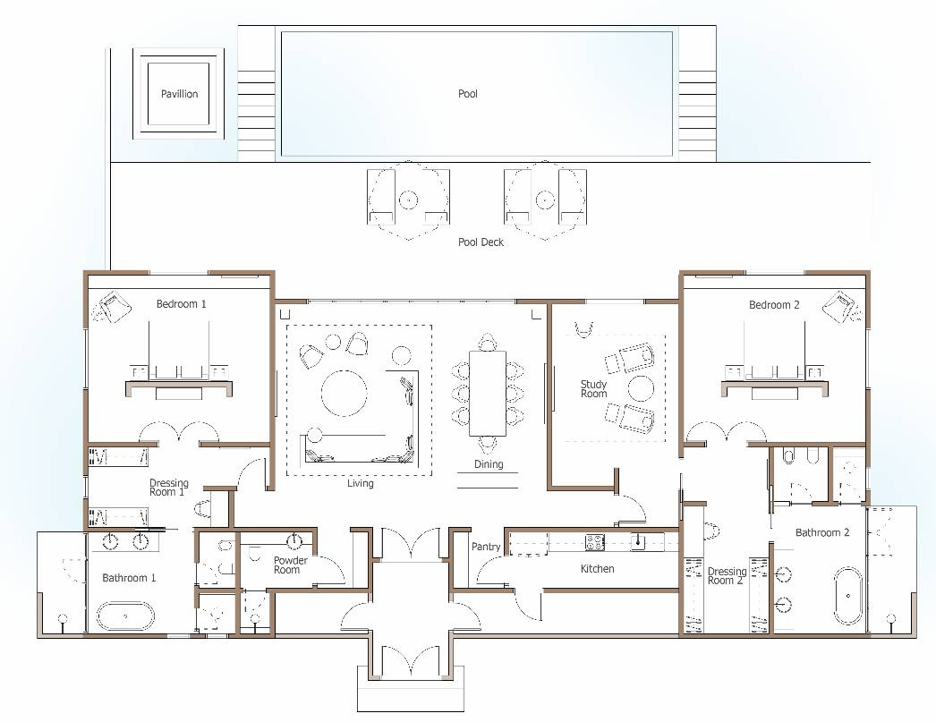 Plan maison en bois de luxe rdc jpg pictures to pin on pinterest