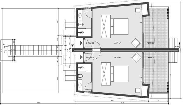 Titre plan d 39 une chambre beachfront au the barefoot eco for Plan d une chambre