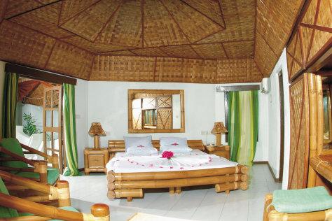 Intérieur d\'un Bungalow Land sur Thulhagiri Island Resort & SPA